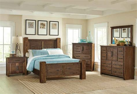 5pc bedroom set sutter creek 5pc bedroom set 204531 in vintage bourbon