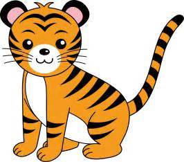 Wallpaper baby tiger cartoon