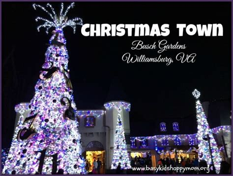 christmas lights in williamsburg va ten tips for visiting christmas town at busch gardens