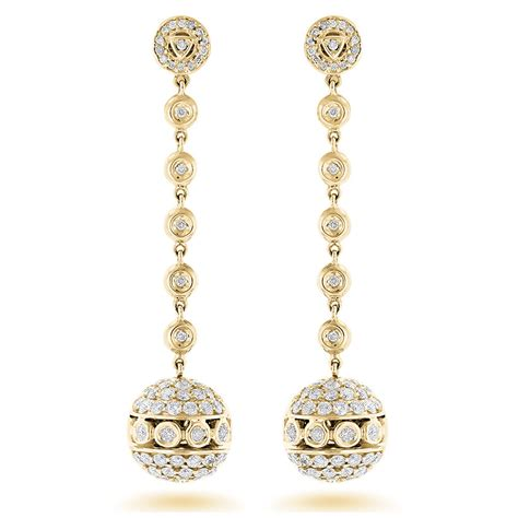 dangle earring golden globes dangle earrings 3ct 14k gold