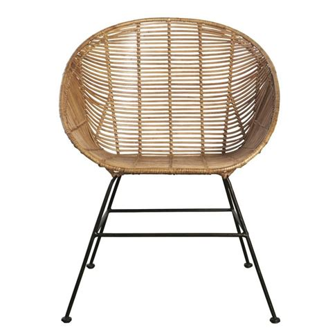 Retro Lounge Chair by Housedoctor Retro Lounge Chair Made Of Rattan Brown 65