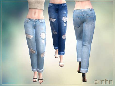 sims 4 cc boyfriend jeans ernhn s ripped boyfriend jeans