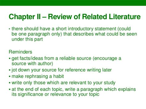 Chapter Ii Review Of Related Literature Sle by Writing Thesis Chapters 1 3 Guidelines