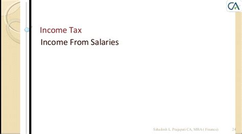 Mba In Taxation Salary by Income Tax A Y 2014 2015