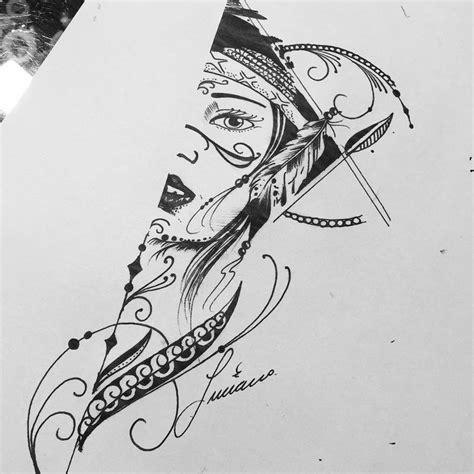 desenho tatuagem 25 melhores ideias de desenhos de indias no