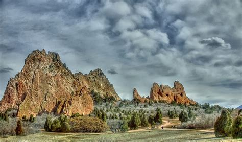 Garden Of The Gods Winter by Late Winter In Garden Of The Gods Hdr Photo Hdr Creme