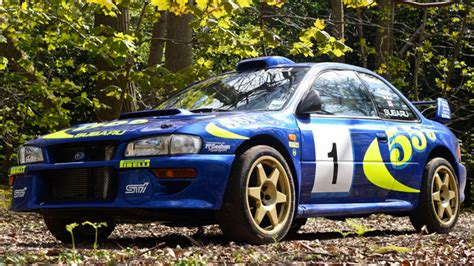 subaru wrc 2017 colin mcrae s subaru impreza wrc test car sells for nearly