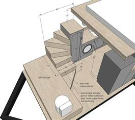 tiny house stairs with storage plans ana white steps and ladder ideas for houses sacred habitats