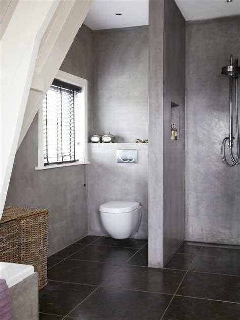 trennwand toilette 10x betonnen badkamers concrete shower concrete and toilet