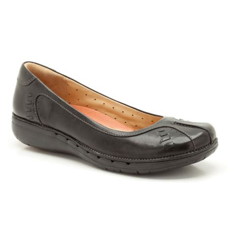 marshalls shoes for clarks un rosily black leather casual shoe