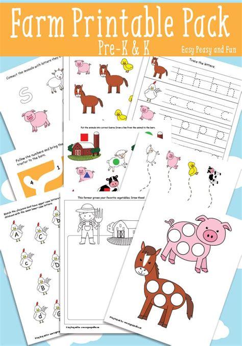 preschool printable farm activities farm printables for kids easy peasy and fun