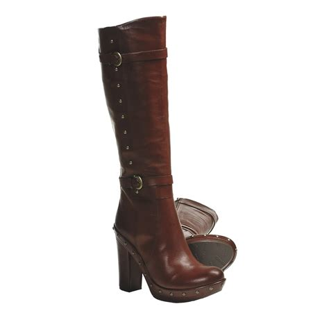 high heel leather boot kork ease bailey high heel boots leather rivet detail