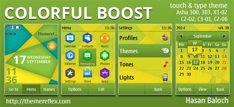 nokia c2 colorful themes colorful boost theme themereflex