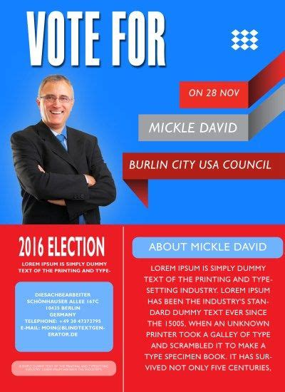 political brochure templates 13 best free political caign flyer templates images on