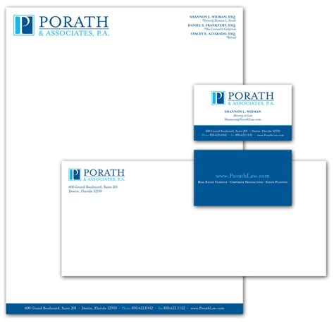 Letterhead Firm Rebranding A Firm Porath Associates Blue Turtle Graphics Inc