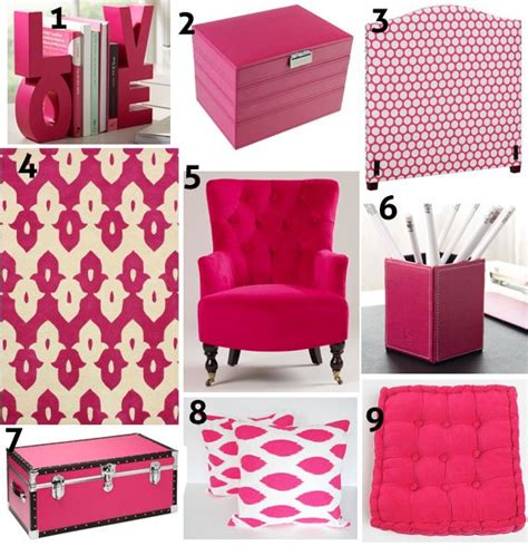 Hot Pink Home Decor | color focus hot pink decor pink home decor pinterest