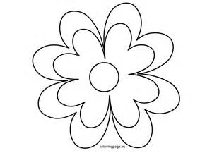 Printable Flower Template Crafts  Coloring Page sketch template