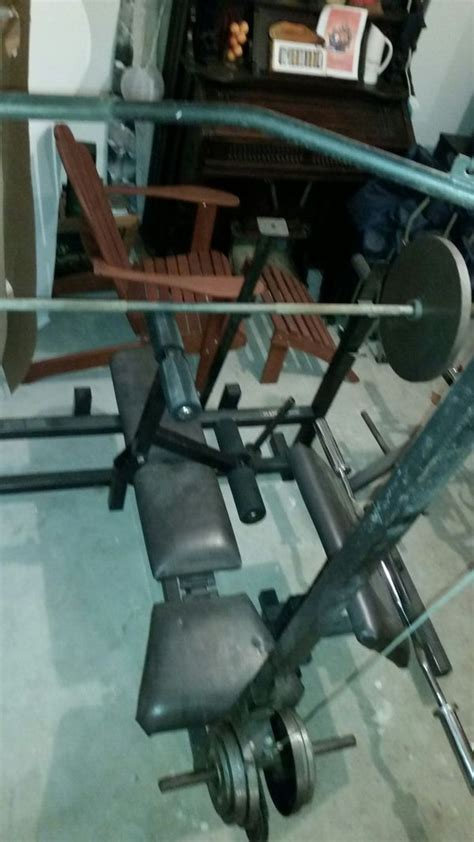 bodysmith weight bench complete bodysmith bench with accessories and standard