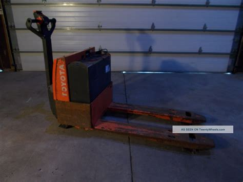 Toyota Electric Pallet Toyota Electric Pallet Truck Fork Lift Personal Skid