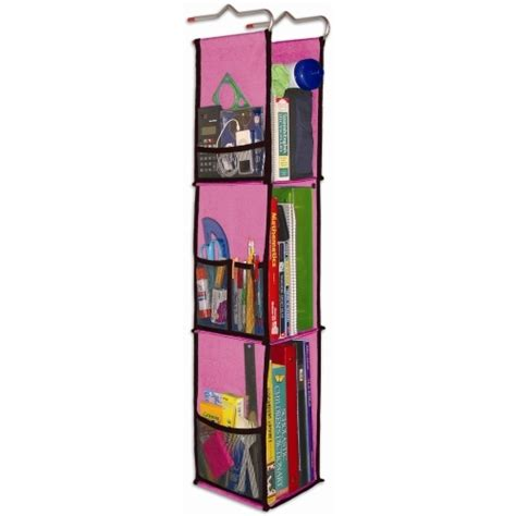 hanging locker organizer pink in locker organizers