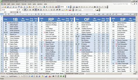 The Fantasy Ranker Draft Cheat Sheet Creator Screenshots