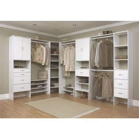 Closetmaid White Corner Shelf Unit Closetmaid Selectives 20 In X 41 5 In X 29 In 3 Shelf