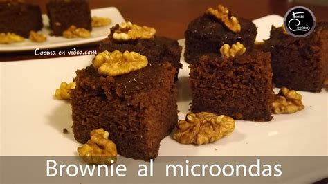 como cocinar brownies brownie de chocolate en microondas cocina en