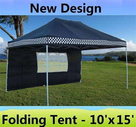 pop canopy party tent gazebo ez black checker model ebay
