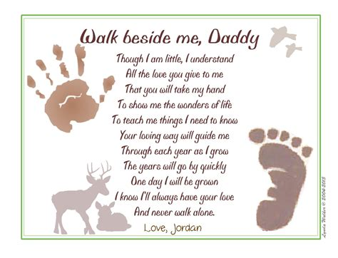baby s s day poem walk beside me 169 poem baby child handprint footprint