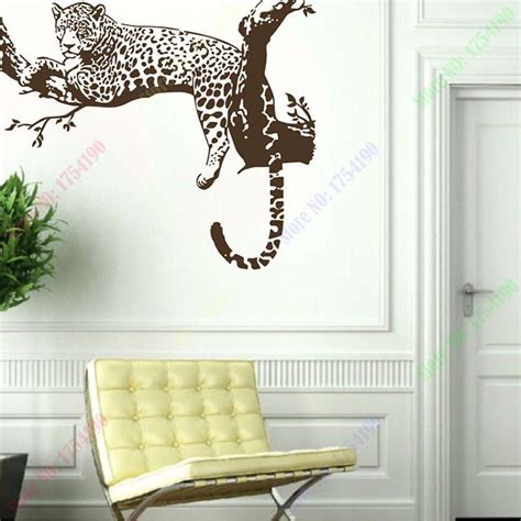 wall stickers murals on sale new large leopard tiger tree removable vinyl wall sticker home decaration animal wall