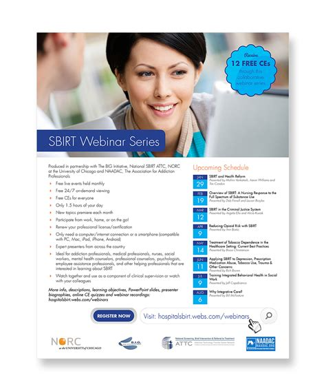 Webinar Series Announcement Flyer For Non Profit Flyer Design Contest Brief 355086 Webinar Announcement Template
