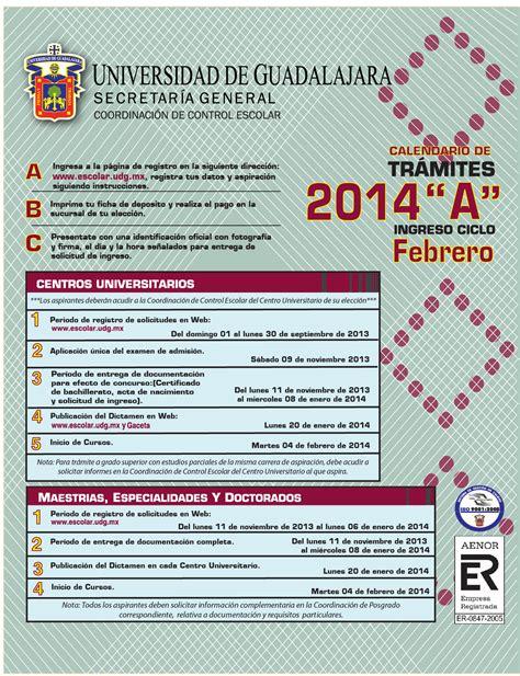 Calendario B Udg 2015 Calendario De Tr 225 Mites 2014 Quot A Quot Centros Universitarios