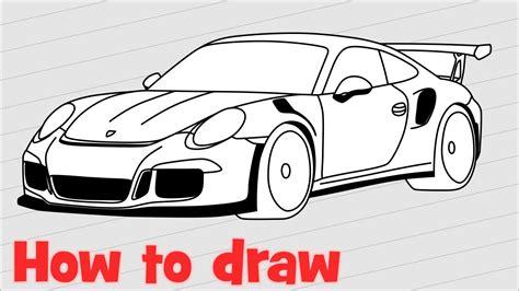 porsche drawing how to draw a car porsche 911 gt3 rs