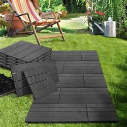 dalles terrasse exterieur bois composite anthracite