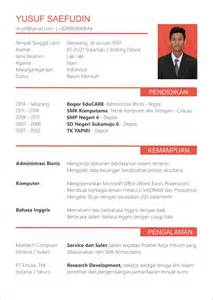Curriculum Vitae Bahasa Inggris by Contoh Cv Design Contoh O