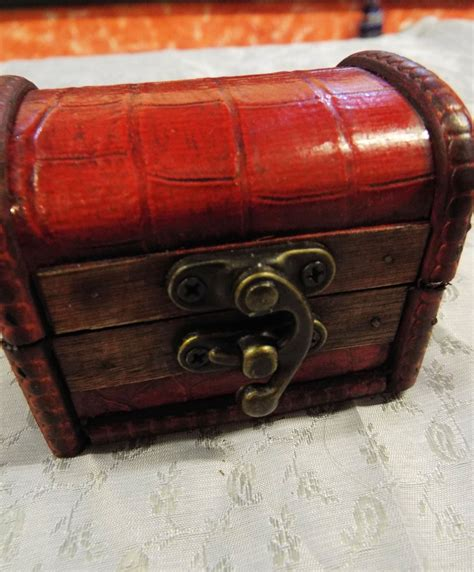 Handmade Wooden Treasure Chest - vintage wooden chest