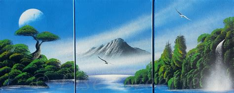 spray paint nature spray paint beautiful nature painting made on canvas
