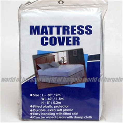bed plastic cover mattress cover queen size fitted plastic bed protector