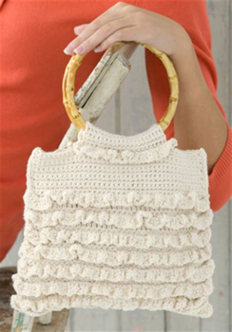 crochet ruffle bag pattern favecrafts free craft projects and diy