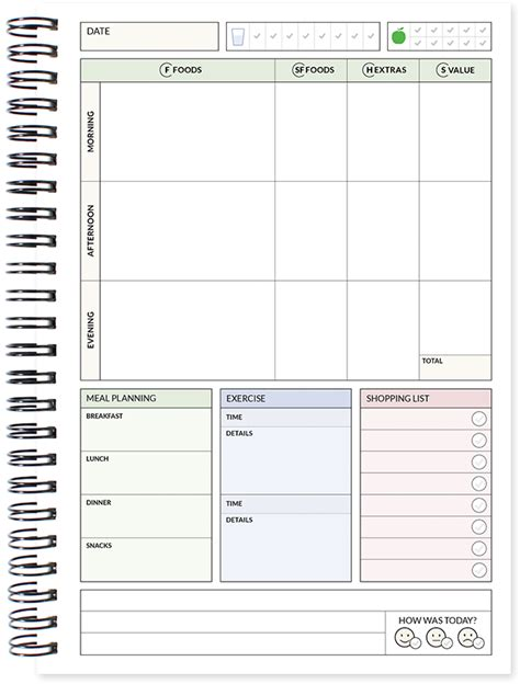 printable food diary booklet food diary slimming world compatible 3 month diet