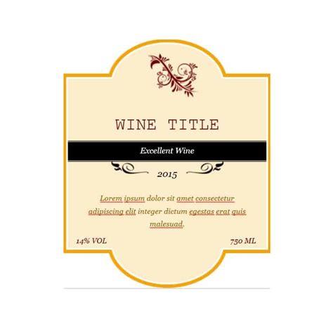 40 Free Wine Label Templates Editable Template Archive Wine Label Design Templates Free