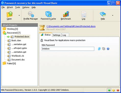 recovery password vba excel free download free vba password recovery professional by