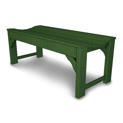 backless benches outdoor polywood 48 traditional garden bench backless american