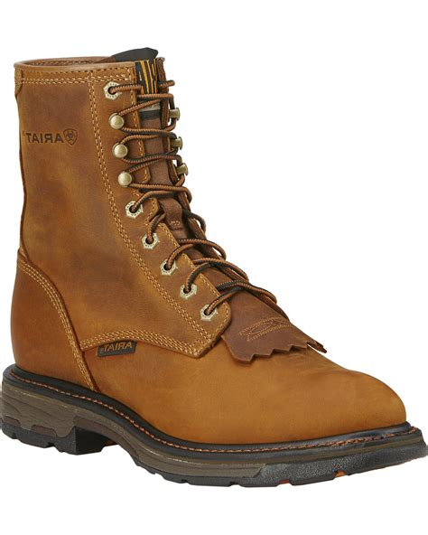 mens lace up work boots ariat s workhog 8 quot lace up work boots boot barn
