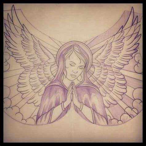 praying angel tattoo designs 60 impressive of praying golfian