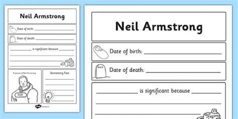 biography neil armstrong ks2 neil armstrong significant individual writing frame
