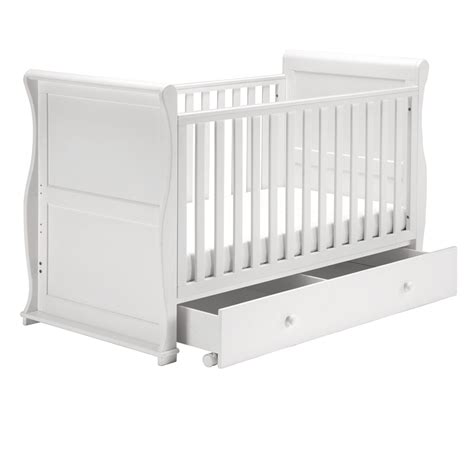 White Sleigh Cot Bed East Coast Alaska White Sleigh Cot Bed