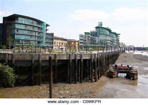 hermitage waterside wapping stock photo