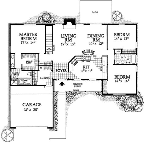 ad house plans simple to build ranch home plan 81317w 1st floor