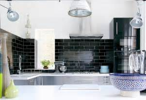 Black Backsplash In Kitchen Love It Or It Black Backsplash Tile Popsugar Home